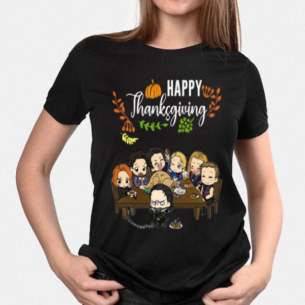 Avengers chibi characters happy thanksgiving shirt
