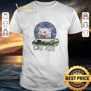Awesome Angry Yelling At Confused Cat At Dinner Table Meme 2020 shirt