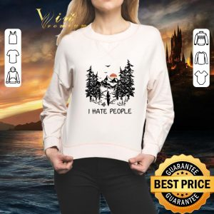 Awesome Camping i hate people sunset shirt