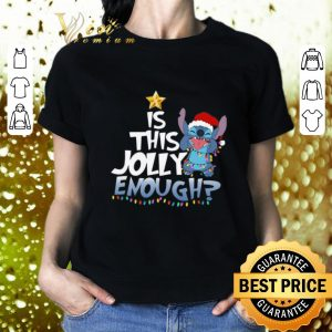 Awesome Stitch Santa is this Jolly enough Christmas lights shirt 1