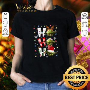 Awesome Yoda ho ho ho Christmas shirt