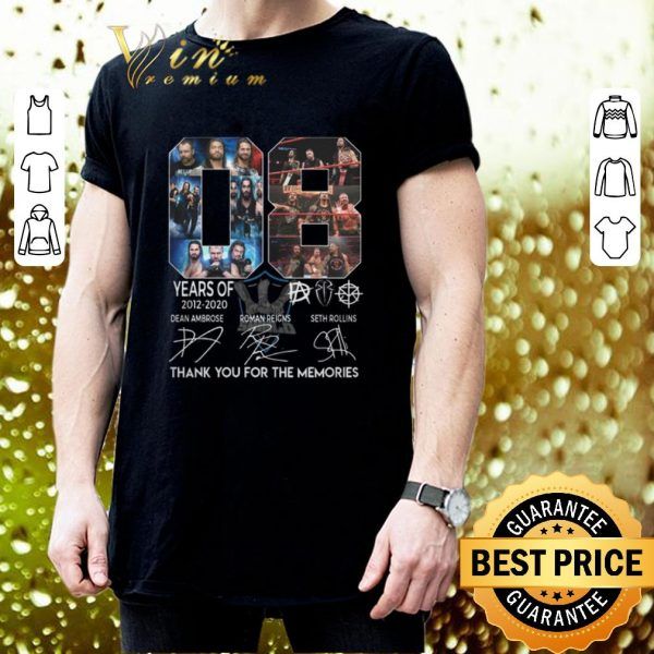 Best 08 years of The Shield 2012 2020 thank you for the memories shirt