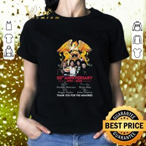 Best 50th anniversary 1970-2020 Queen Freddie Mercury Thank you for the memories shirt 1