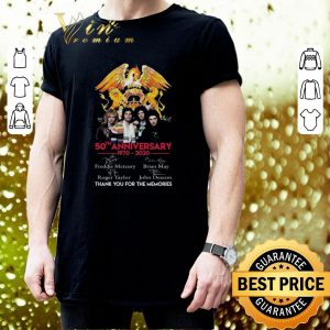 Best 50th anniversary 1970-2020 Queen Freddie Mercury Thank you for the memories shirt 2