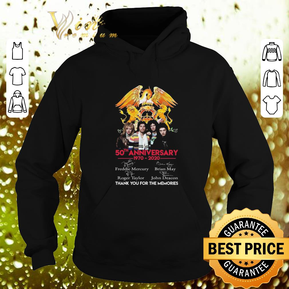 Best 50th anniversary 1970 2020 Queen Freddie Mercury Thank you for the memories shirt 4 - Best 50th anniversary 1970-2020 Queen Freddie Mercury Thank you for the memories shirt