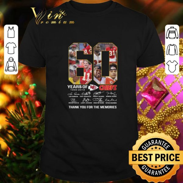 Best 60 years of the Kansas City Chiefs 1959 2019 signatures shirt