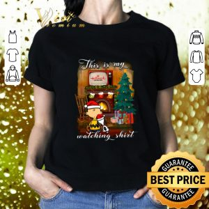 Best Charlie Brown Snoopy This is my Hallmark Christmas movie watching shirt
