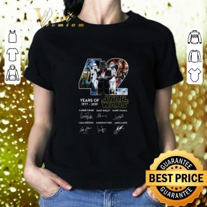 Best Darth Vader 42 Years of Star Wars 1977-2019 signatures shirt