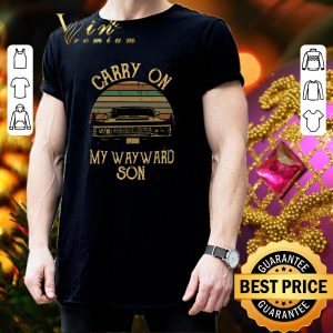 Best Supernatural Carry on my wayward son shirt 2