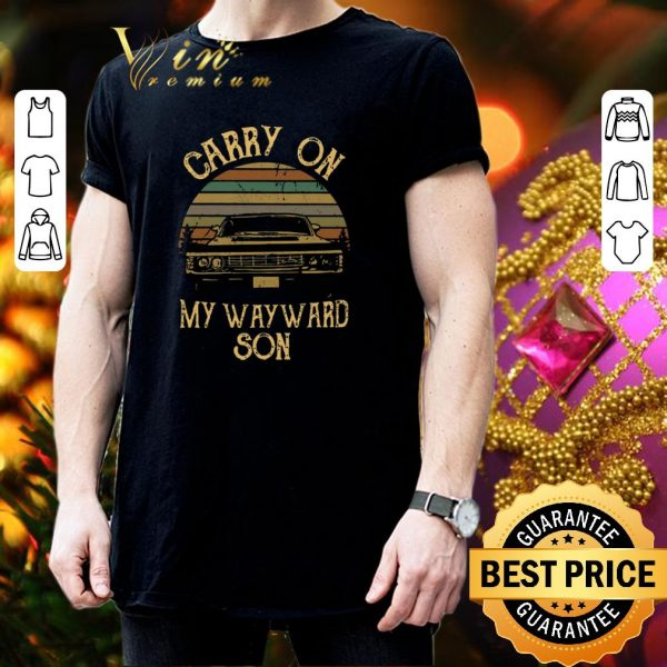 Best Supernatural Carry on my wayward son shirt