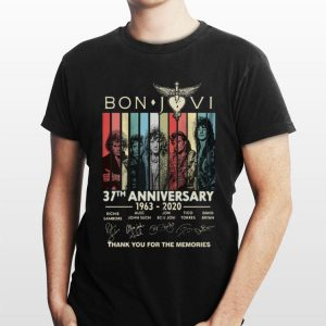 Bon Jovi 37th anniversary thank you for the memories vintage sweater
