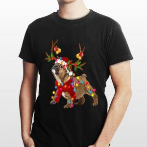 Bulldog Gorgeous Reindeer Light Christmas sweater