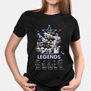 Dallas Cowboy legends 1878 2020 signatures shirt