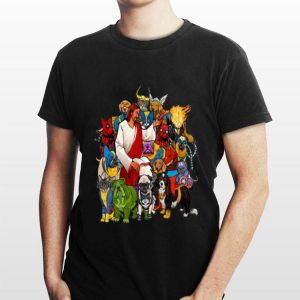 Dog Avengers Jesus that's how I saved the world shirt