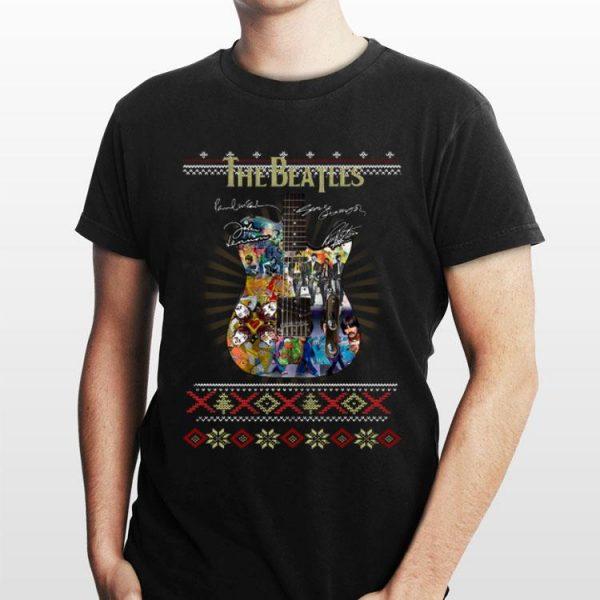 Guitar The Beatles signature ugly Christmas shirt