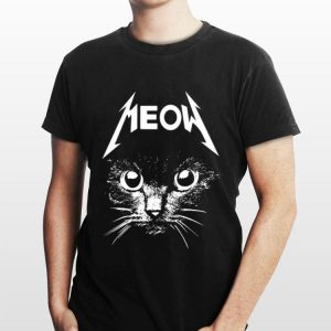 Metallica Meowtalica Black Cat shirt