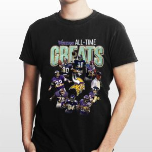Minnesota Vikings all time great players signatures shirt
