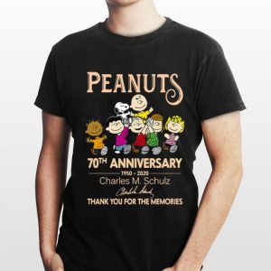 Peanuts 70th Anniversary Charles M Schulz Thank You For The Memories Signature shirt