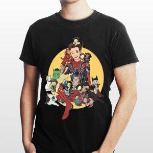 Peter Parker Spider Man And Avengers Cat shirt