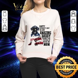 Pretty American flag Boxer happy father's day to my amazing daddy mom shirt