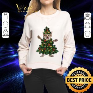 Pretty Cat pine Christmas tree shirt