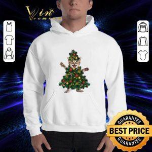 Pretty Cat pine Christmas tree shirt 2