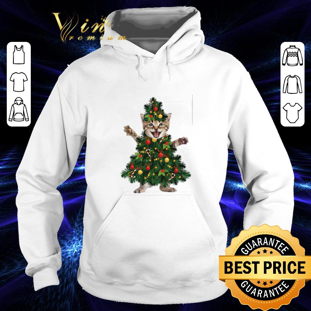 Pretty Cat pine Christmas tree shirt 4 - Pretty Cat pine Christmas tree shirt