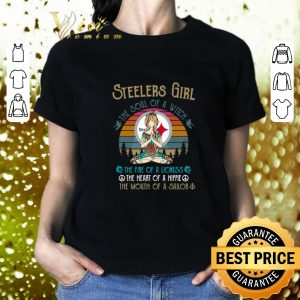 Pretty Pittsburgh Steelers Girl The Soul Of A Witch Yoga Vintage shirt