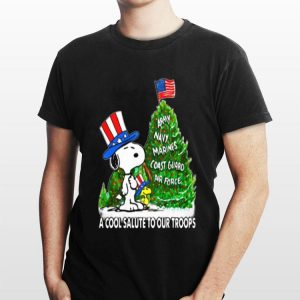 Snoopy Army And Marines Coast Guard Air Force Christmas Tree sweater