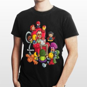 Stan Lee Marvel And Superhero Chibi Renography shirt