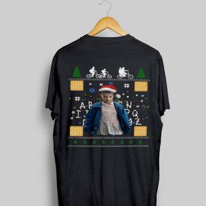 Stranger Things Eleven ugly christmas shirt