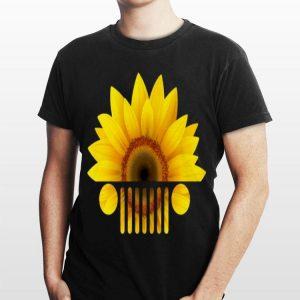 Sunflower head jeep car shirt