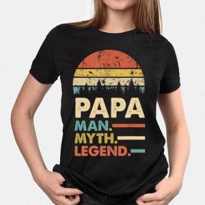 Sunset Papa Man Myth Legend shirt
