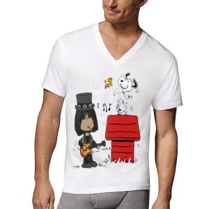 The Peanuts Snoopy Woodstock and Slash shirt