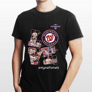 Washington Nationals My Nationals Love Signatures shirt