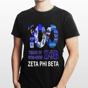 100 Years Of 1920 2020 Zeta Phi Beta shirt