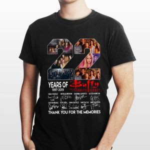 22 Years of Buffy The Vampire Slayer thank you for the memories signatures sweater