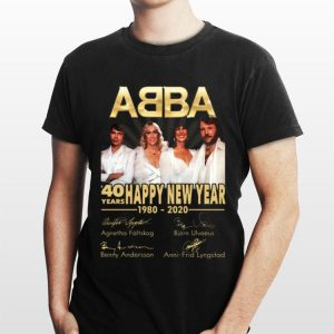 ABBA 40 Years Happy New Year 1980-2020 Signatures sweater
