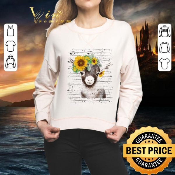 Awesome Baby goat sunflower shirt