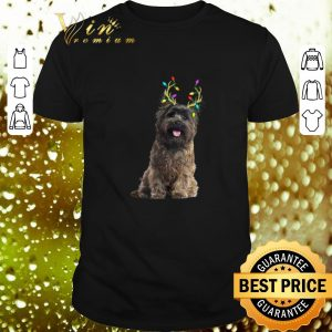 Awesome Cairn Terrier Reindeer Christmas Light shirt