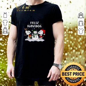 Awesome Snoopy Feliz Navidog Christmas shirt 2