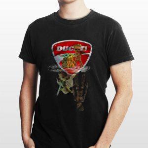 Baby Yoda And Baby Groot Ducati Water Reflections Master Yoda And Groot shirt