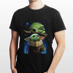 Baby Yoda And Master Yoda Galaxy Star Wars shirt