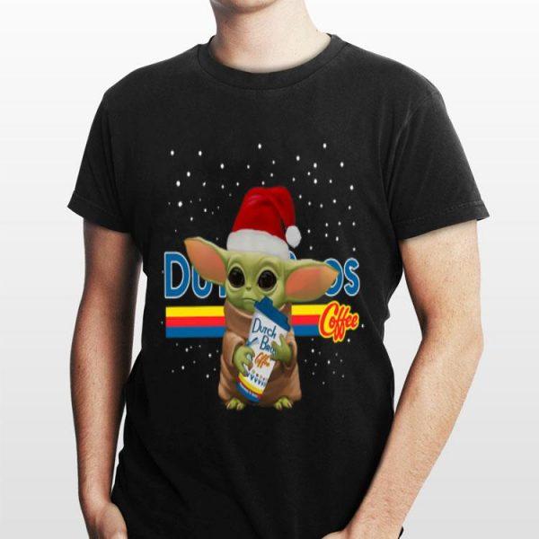 Baby Yoda Hug Dutch Bros Coffee Christmas sweater