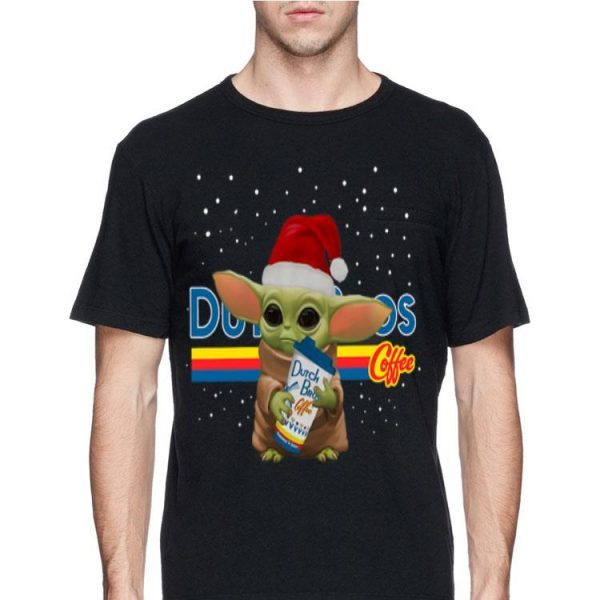 Baby Yoda Hug Dutch Bros Coffee Christmas sweater