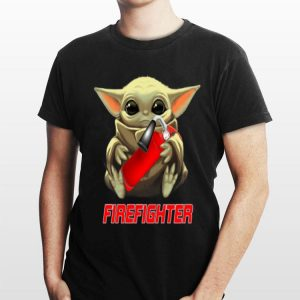 Baby Yoda Hug Firefighter shirt