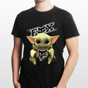 Baby Yoda hug Fox Racing shirt
