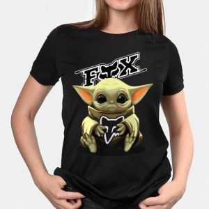 Baby Yoda hug Fox Racing shirt