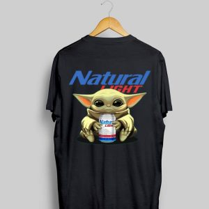 Baby Yoda hug Natural Light beer shirt