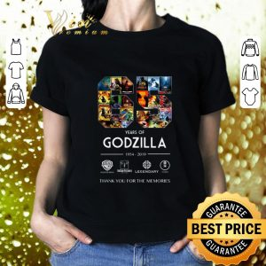 Best 65 years of Godzilla 1954-2019 thank you for the memories shirt 1